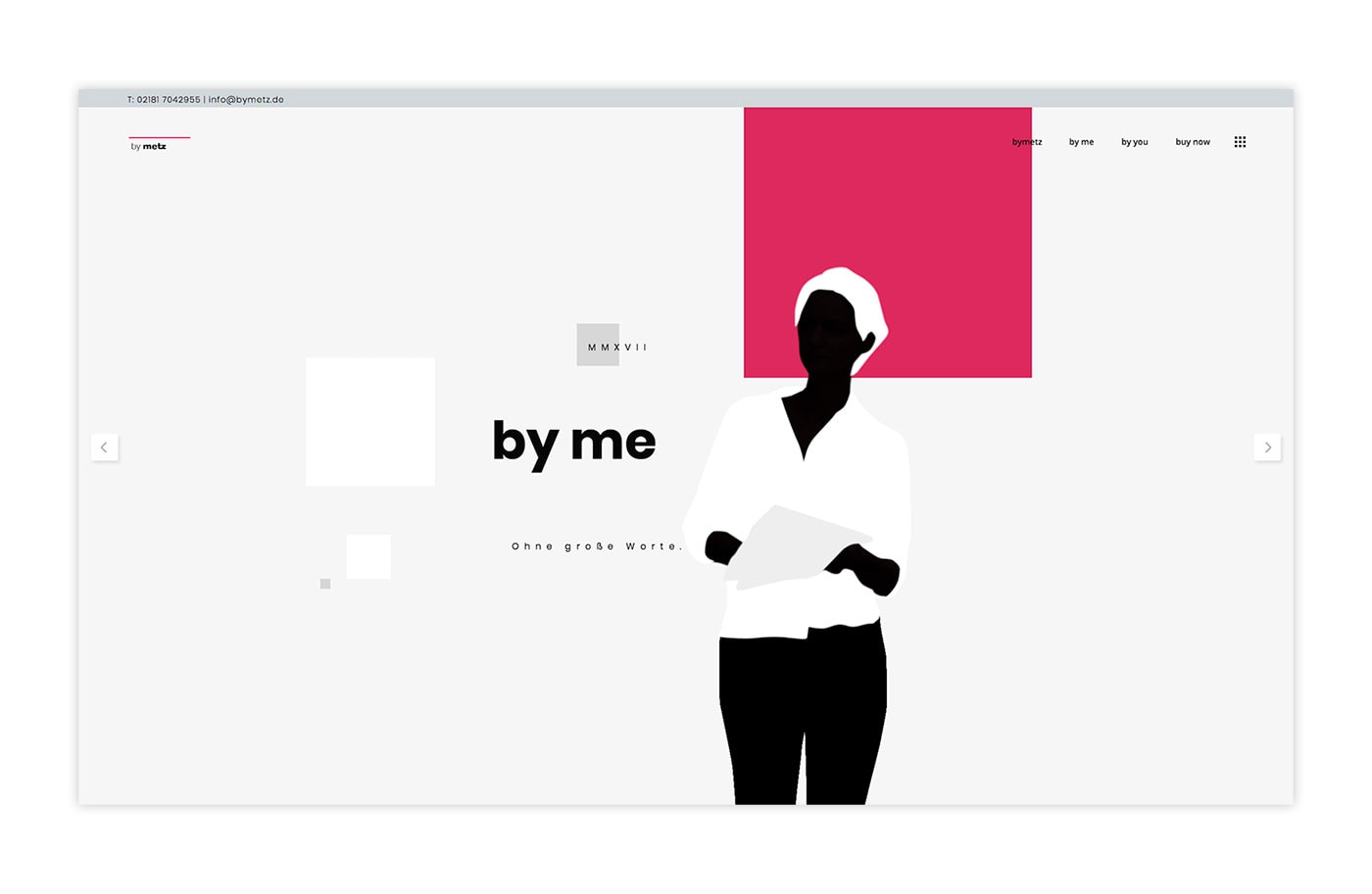 Website - bymetz - Werbung & design