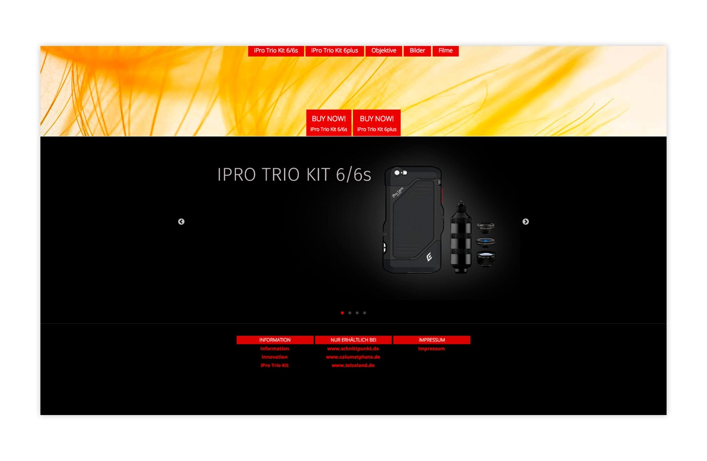 Website - Schnittpunkt - iPro Trio Kit